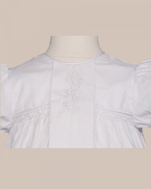 """Girls 25"""" Victorian Style Cotton Christening Baptism Gown - One Small Child"""