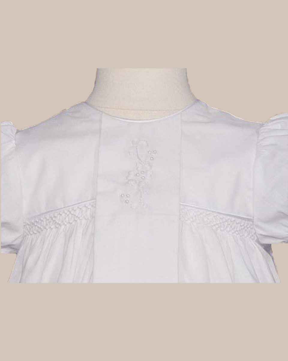 "Baptismal Gown Preservation: Girls 25"" Victorian Style Cotton Christening Baptism Gown"