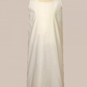 "Girls 23"" White Poly Cotton Easter Christening Baptism Slip Liner"