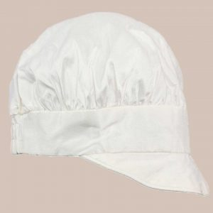 Boys Simple Silk Christening Baptism Captain Style Hat with Brim - One Small Child