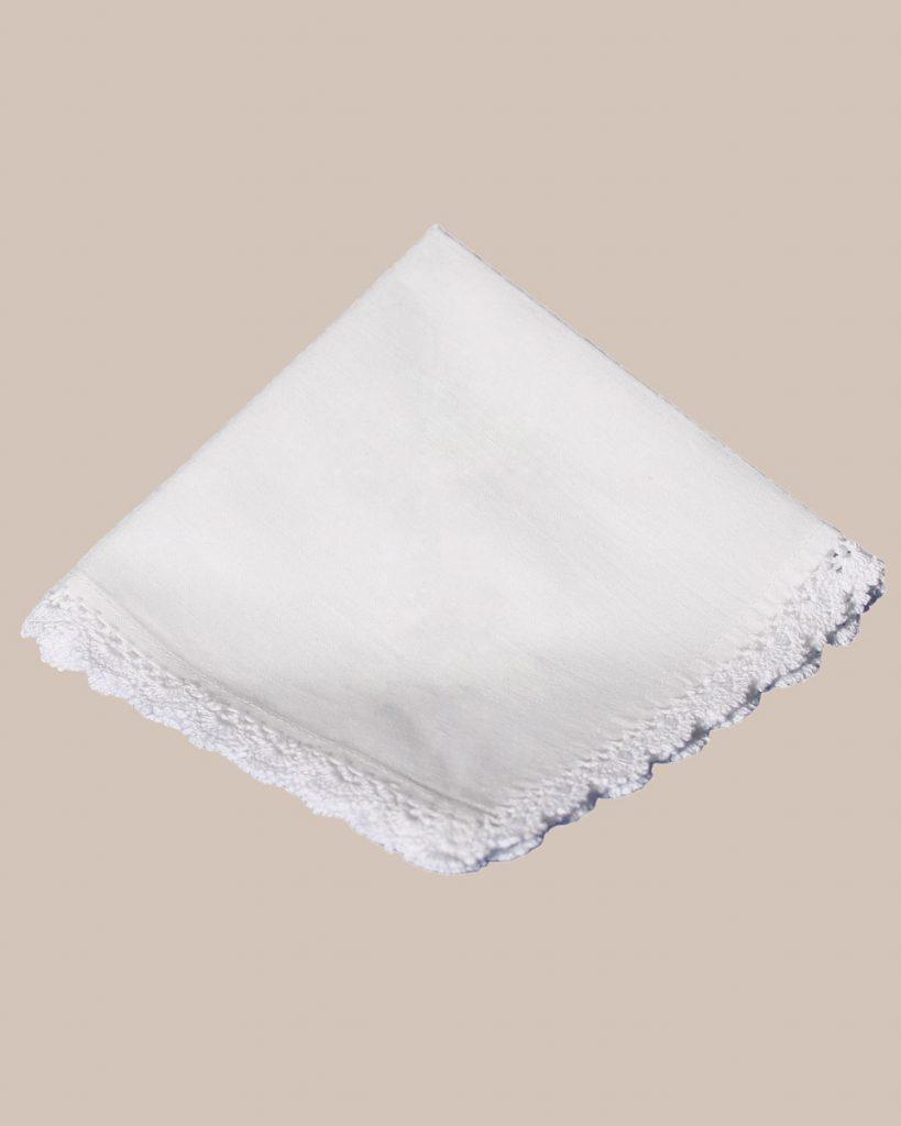 Cotton Christening Hankie Handkerchief Heirloom - One Small Child