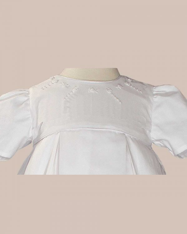 Girls 34? Pleated Heirloom Christening Gown with Bonnet and Slip - One Small Child