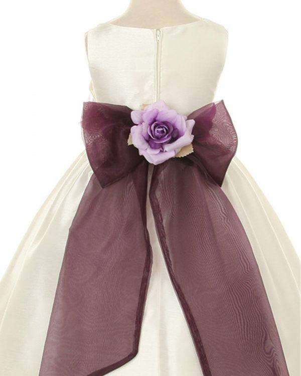 KD-204 Flower Girl Dress Ivory Lavender - One Small Child