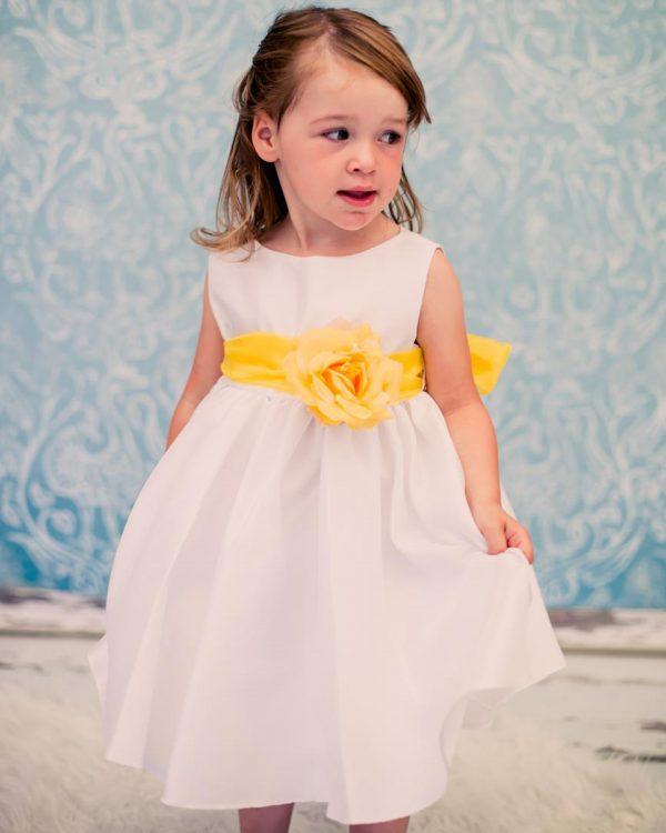 KD-204 Flower Girl Dress Ivory Yellow - One Small Child