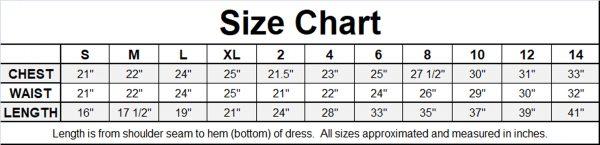 KD-204 Flower Girl Dress Size Chart Image - One Small Child