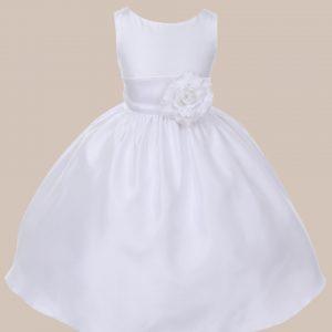 KD-204 Flower Girl Dress White White - One Small Child