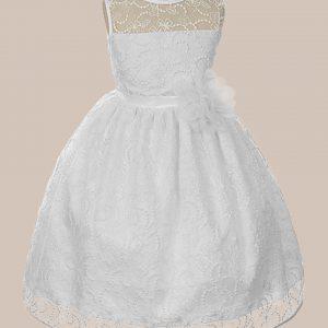 KD-307 Flower Girl Dress White - One Small Child