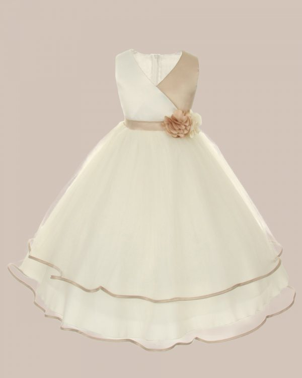 KD-308 Flower Girl Dress Champaign - One Small Child