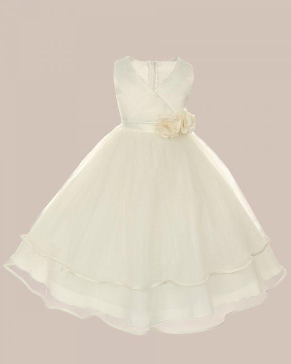 KD-308 Flower Girl Dress Ivory - One Small Child