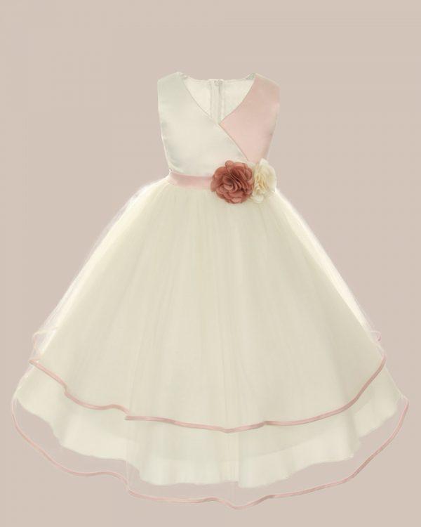 KD-308 Flower Girl Dress Rose - One Small Child