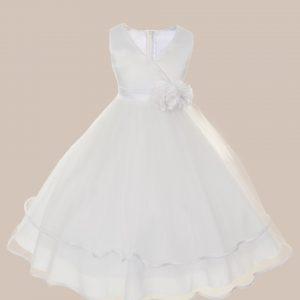 KD-308 Flower Girl Dress White - One Small Child