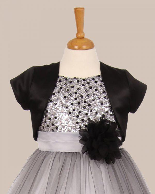 KD-355 Flower Girl Dress Black - One Small Child