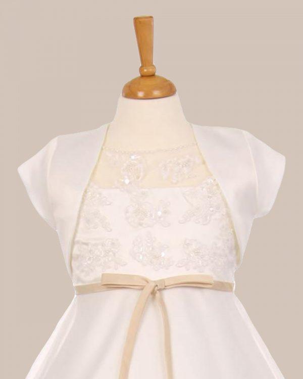 KD-355 Flower Girl Dress Ivory - One Small Child