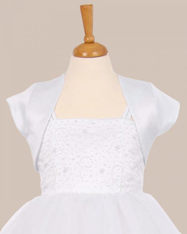 KD-355 Flower Girl Dress White - One Small Child
